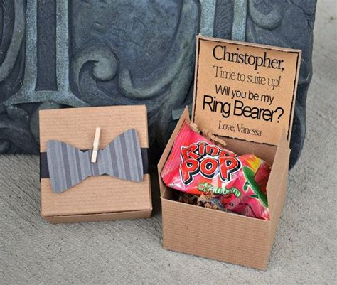 Ring POP ~ Will You Be My Ring Bearer Bow Tie Boxed Invite
