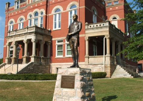 Fayetteville, WV : LaFayette's Statue on the Court House