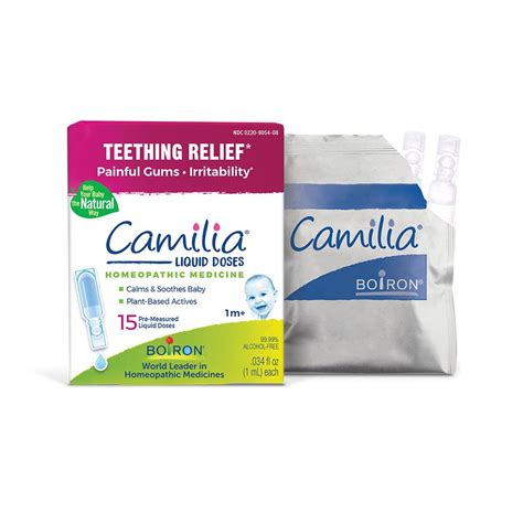 Boiron Camilia 15 doses, Homeopathic Medicine for Teething