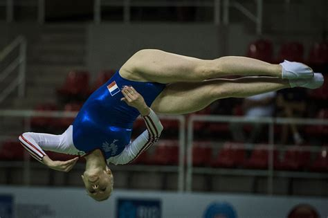 Yes, Trampoline is a real sport at the Olympics, and it's