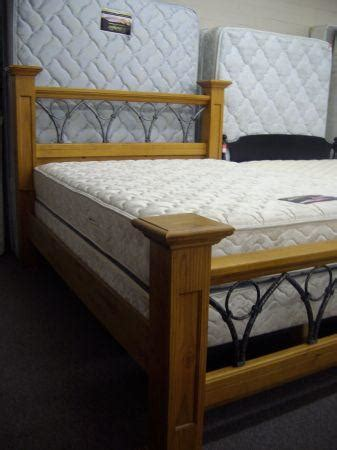 Wood & Iron Queen Bed Frame - (Tucson) for Sale in Tucson