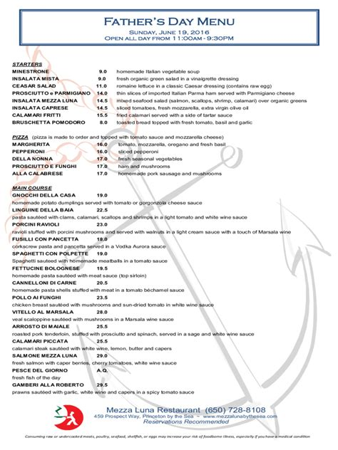 Father's Day Menu Template - 5 Free Templates in PDF, Word