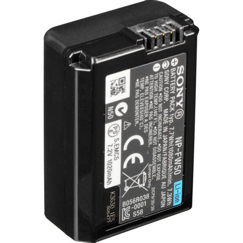 Sony NP-FW50 Lithium-Ion Rechargeable Battery 1200151 B&H