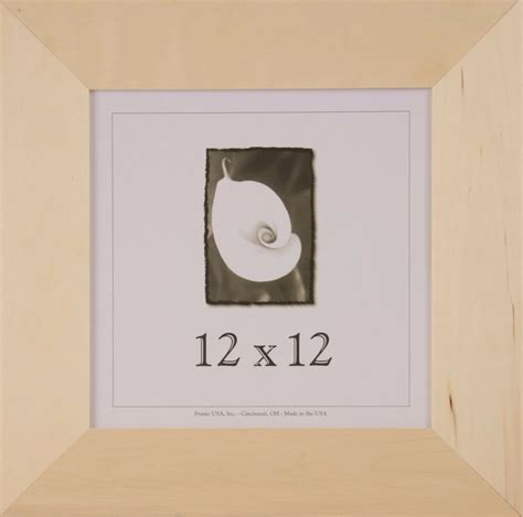 12x12 Unfinished Wood Frames - 3 inch Wide, DIY Picture