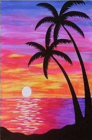 Purple Beach Sunset - Seascape Paint By Numbers - Numeral