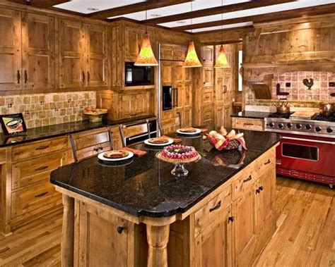 Furniture: Knotty Pine Cabinets With Natural Look, knotty