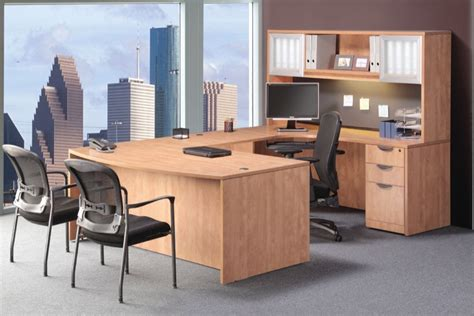 NDI PL22 Office Suite 71″ Bow Front U Group Desk with