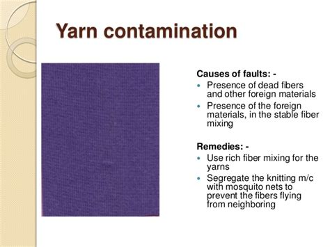 Faults in knit dyed fabric