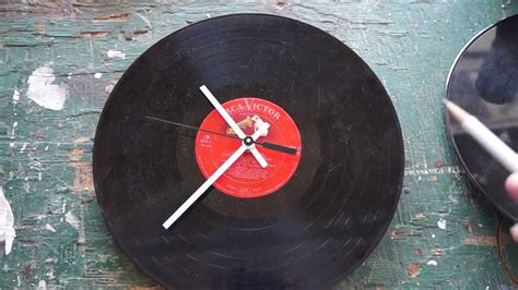 How To Make a Vinyl Record Wall Clock - YouTube