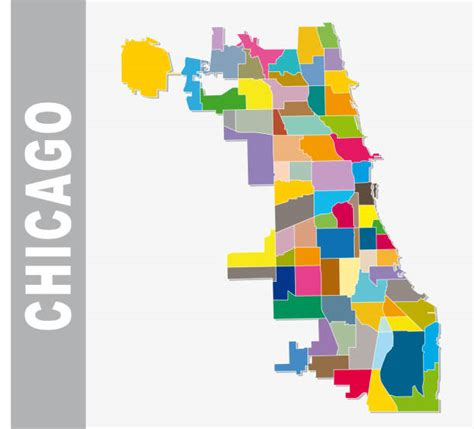 Chicago Map Illustrations, Royalty-Free Vector Graphics