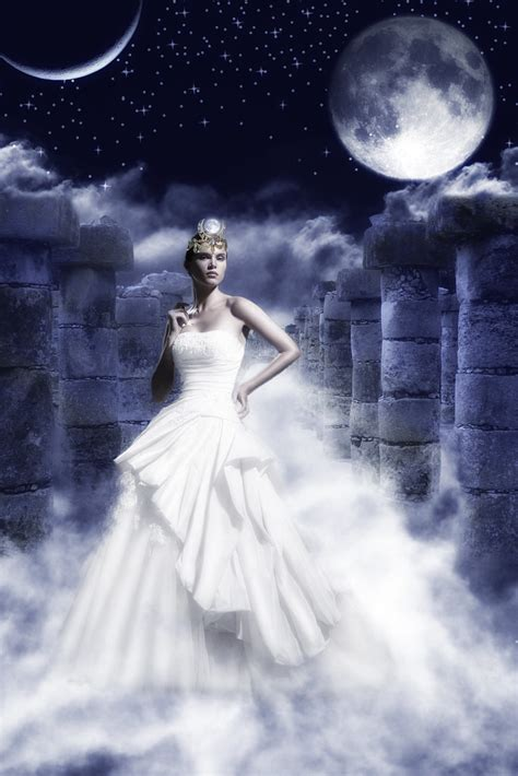 Selene, the Moon goddess   This is a project I was doing