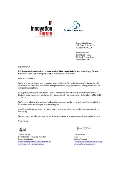 Invitation letter march 16-17 2015 sustainable cotton