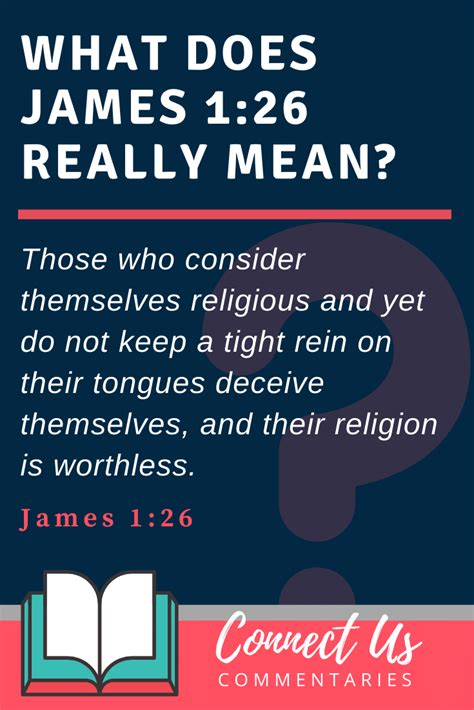 James 1:26 Meaning of Verse with Simple Commentary – ConnectUS
