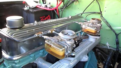 1952 Ford 215 OHV 6 cyl w/dual carburators - YouTube