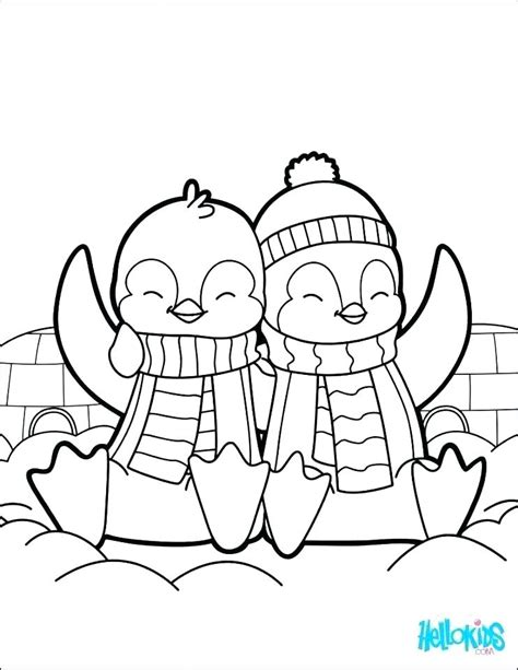 Baby Penguin Coloring Pages at GetColorings