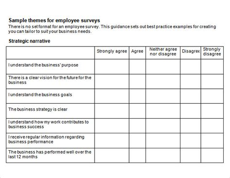 13 Sample Employee Engagement Survey Templates to Download