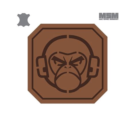 Mil-Spec Monkey Monkey Head 2inch Square Leather Brown