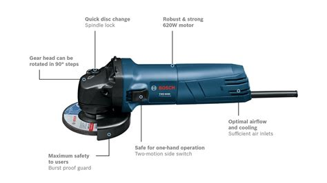 BOSCH GWS 060 4'' Angle Grinder (06013756L0) Without