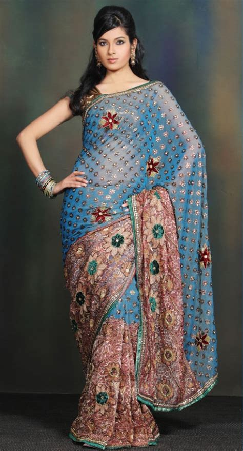 Fashion Trends Reports: Embroidered Wedding Saree