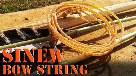 Making a primitive sinew bow string with reverse twist
