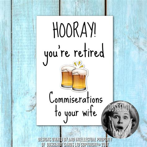 Retirement Card - Commiserations to your wife (or husband)