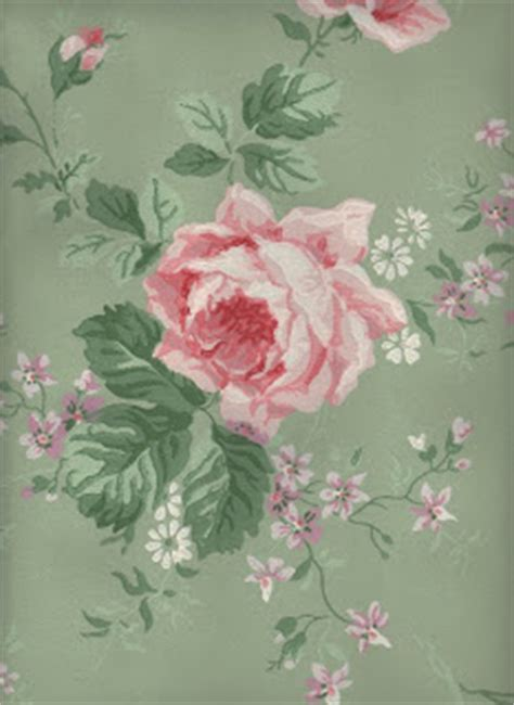 Amazing Sage & Pink Roses Wallpaper - The Graphics Fairy