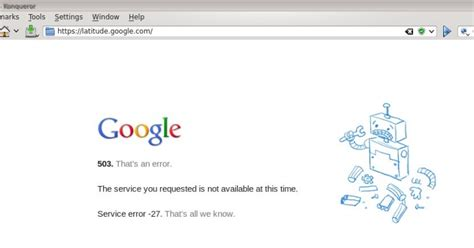 ck :: Google can also have server problems - Error 503 on