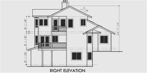 View House Plans, Sloping Lot House Plans, Multi Level