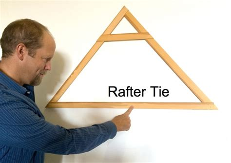 Rafter ties are installed between opposing rafters, and