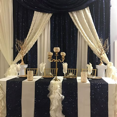 Navy and Ivory Drape - Party Rentals, Tent Rentals and