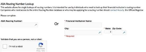How to Look Up an ABA Bank Routing Number