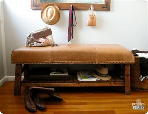 Leather Upholstered Bench with Storage - KnockOffDecor